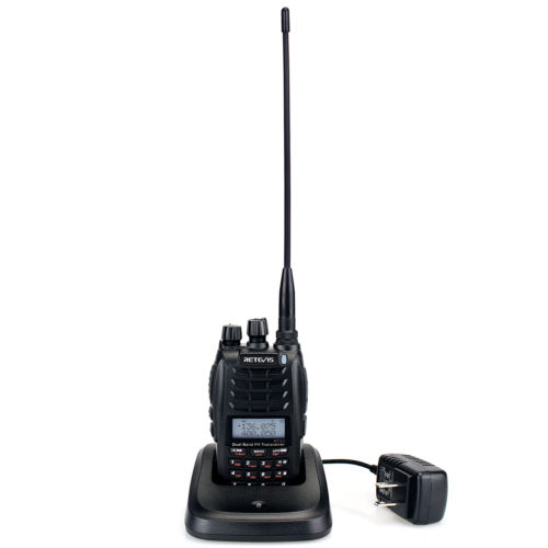 Retevis RT23 Walkie Talkie Cross-Band Repeater UHF+VHF Tw...