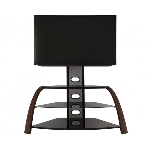 """AVF Kingswood Walnut Floor Stand with Mount for TVs 32-55"""""""
