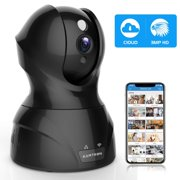 Security Camera Pet WiFi Camera - KAMTRON 1536P Indoor Wireless IP Camera Full HD 3MP Home Video Surveillance System with IR Night Vision, Motion Detection and Two-Way Audio - Cloud Storage,Black