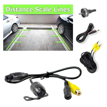 PYLE PLCM24IR - Rear View Backup Camera, Distance Scale Line Display, Waterproof Parking Assist Cam, Universal