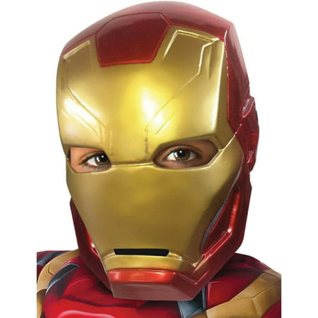Captain America 3 Iron Man Half Mask Child Halloween Accessory (Captain America Girl Mask)