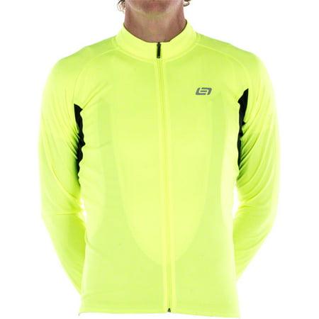 Bellwether Sol Air UPF 40+ Men's Long Sleeve Cycling Jersey: Hi-Vis SM