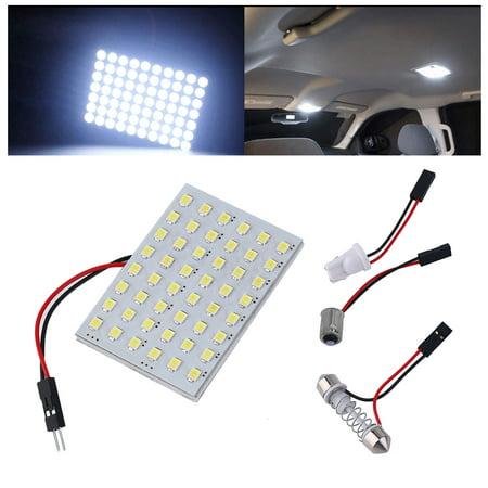 Universal Dome - Universal Set Car Festoon White LED 48SMD Panel Interior Dome Map Light Bulb Lamp T10