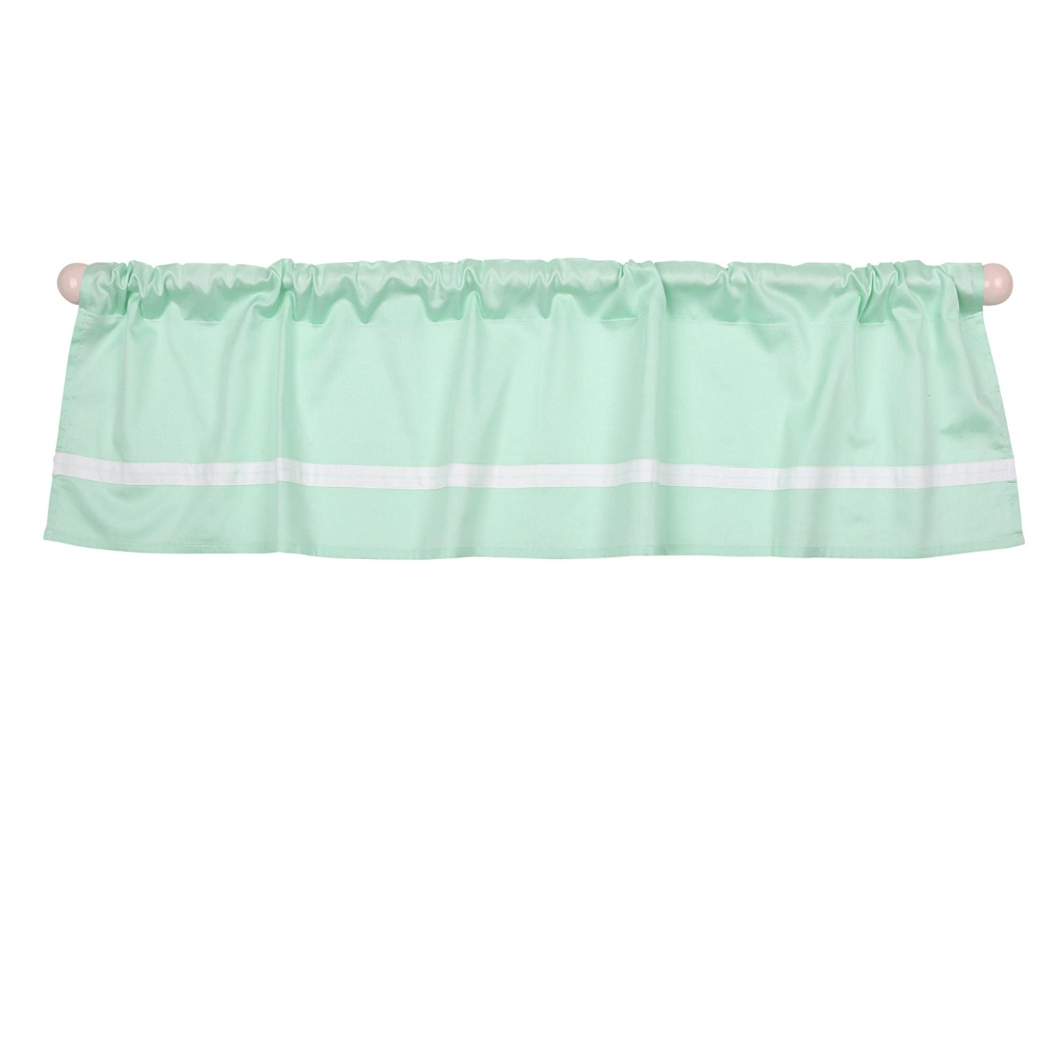 Mint Green Tailored Window Valance by The Peanut Shell 100% Cotton Sateen by Quality Brand