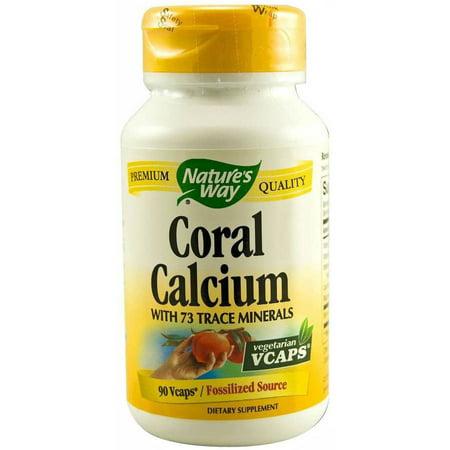 Nature's Way Le calcium de corail capsules végétariennes, 90 CT