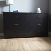 South Shore Fusion 6-Drawer Double Dresser, Multiple Finishes