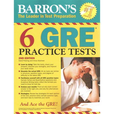 Barrons 6 GRE Practice Tests by