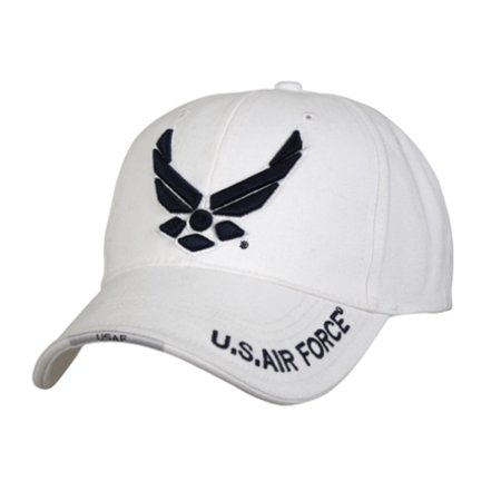 - White US Air Force Wing Low Profile Baseball Cap