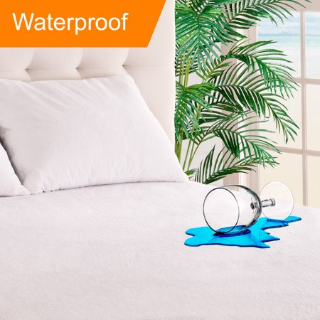 Queen Size Premium Mattress Protector - 100% Waterproof - Vinyl Free Hypoallergenic - 10 Year Warranty - (Queen)