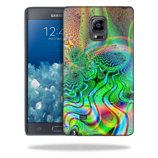 MightySkins Snap-On Protective Hard Case Cover for Samsung Galaxy Note Edge Case Psychedelic