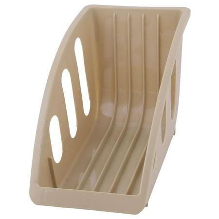 Deep Dish Restaurant - Restaurant Kitchen Plastic Plate Bowl Drying Storage Holder Dish Rack Khaki