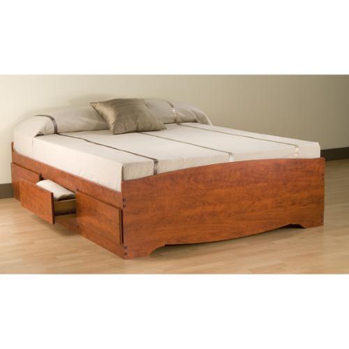 Prepac Manufacturing Cherry Full Mate's 6-drawer Platform Storage Bed