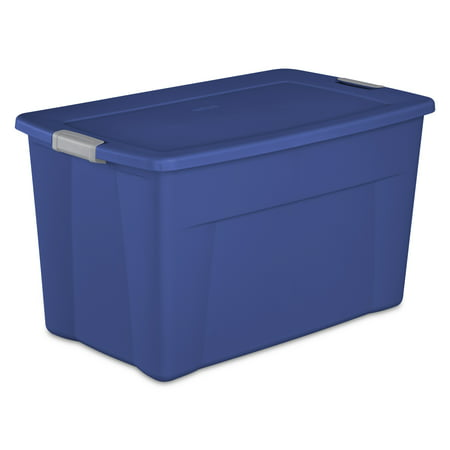 Sterilite, 35 Gal./132 L Latch Tote, Stadium Blue