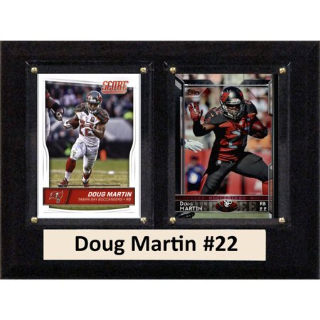 """C & I Collectables NFL 6"""" x 8"""" Doug Martin Tampa Bay Buccaneers Two-Card Plaque"""
