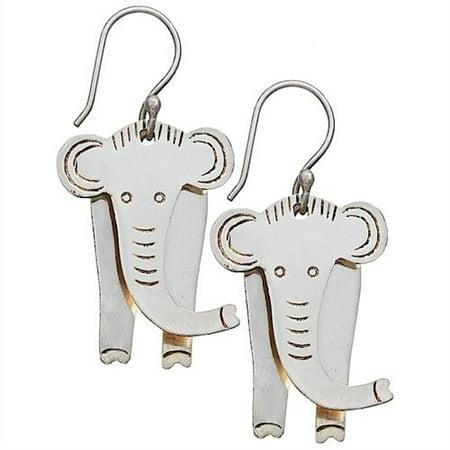Fair Trade Sweet - Fair Trade Jewelry - Dangle Earrings - Babar Elephant Earrings - dZi Sweet Bi...