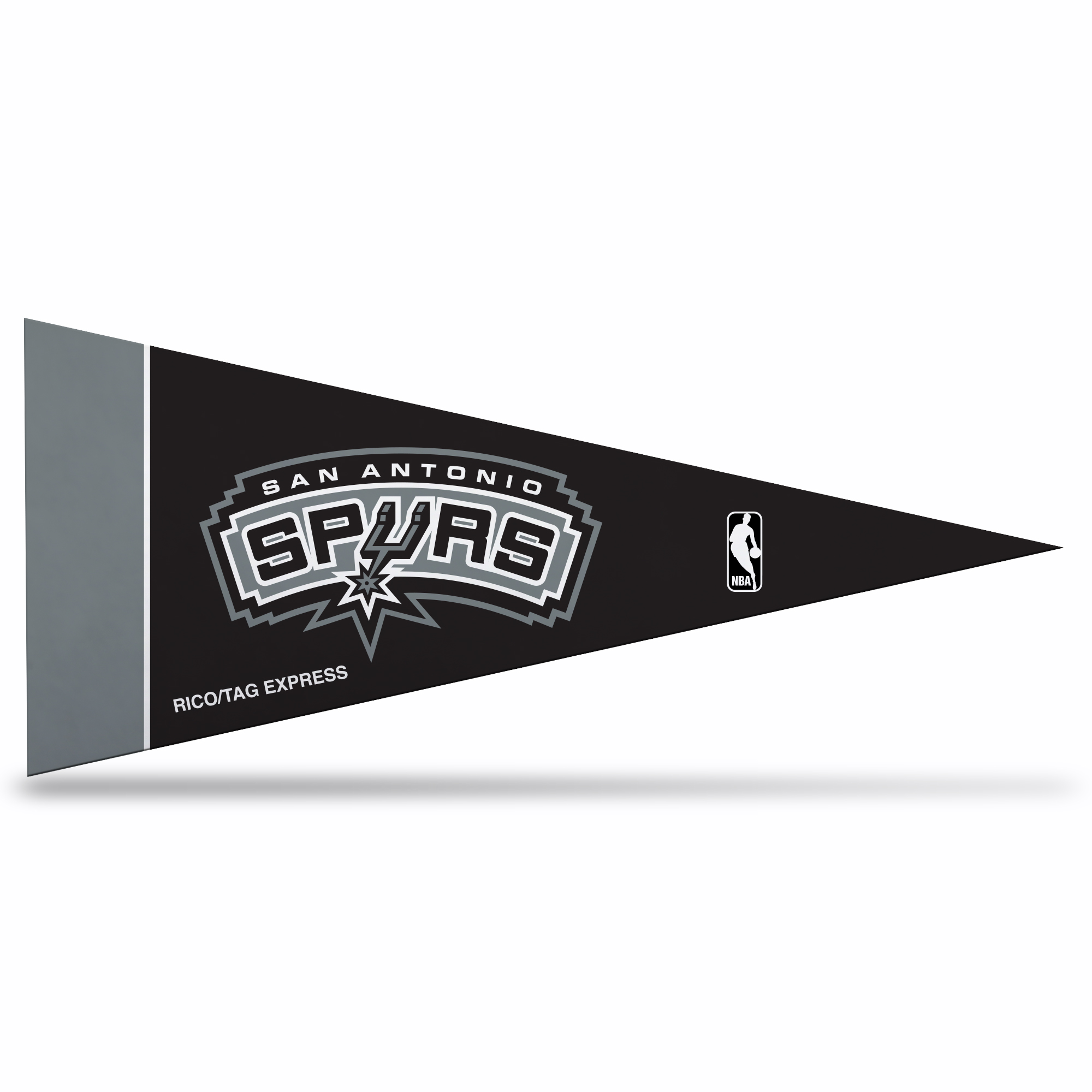 San Antonio Spurs Official NBA 10 inch x 4 inch  8 Piece Mini Pennant Set by Rico Industries