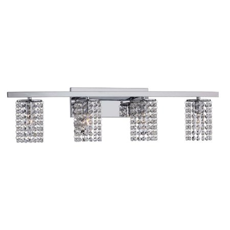 Eurofase Lighting Crystal Sconce - The Lighting Store Round Shade Chrome and Crystal Wall Sconce