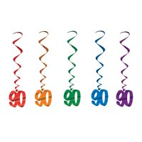 90th Birthday Party Dangling Whirl Decorations