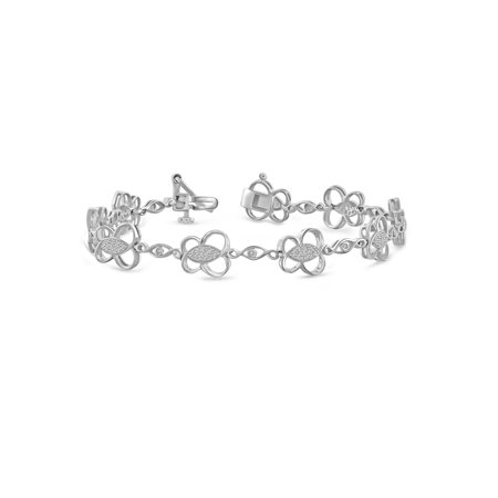 White Diamond Accent Sterling Silver Fashion Bracelet, 7.5