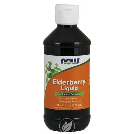 Now Foods Elderberry Liquid Concentrate 8 Fl oz, Pack of 2