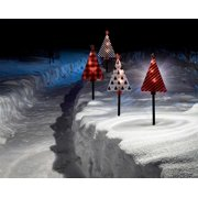 "PW 18"" CC Lane Pathway Marker 4 CT Graphic Tree Lighted Display, On/off Timer"