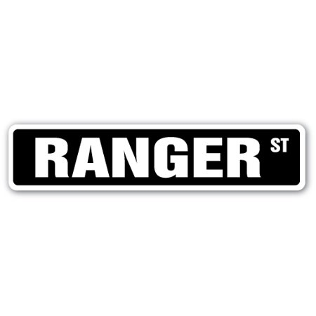 Ranger Street Sign Park Army Boat Service Forest Military Gift