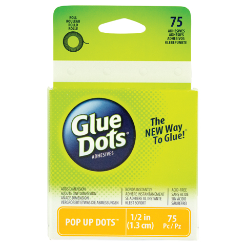 Glue Dots Roll Pop Up 1.5In 75Ct Acid Free
