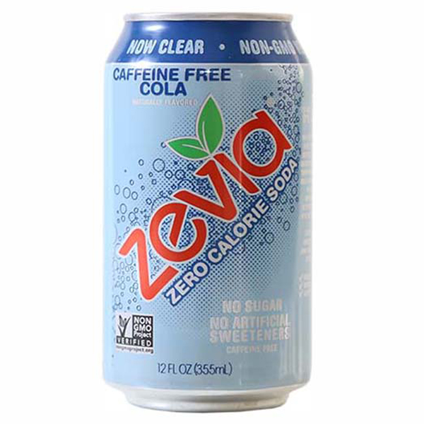 Zevia Caffeine Free Cola Zero Calorie Soda 12 oz Cans - Pack of 24