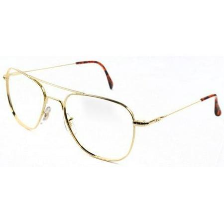 AO Original Pilot Sunglasses, Wire Spatula, Gold Frame, No Lens, 57mm,