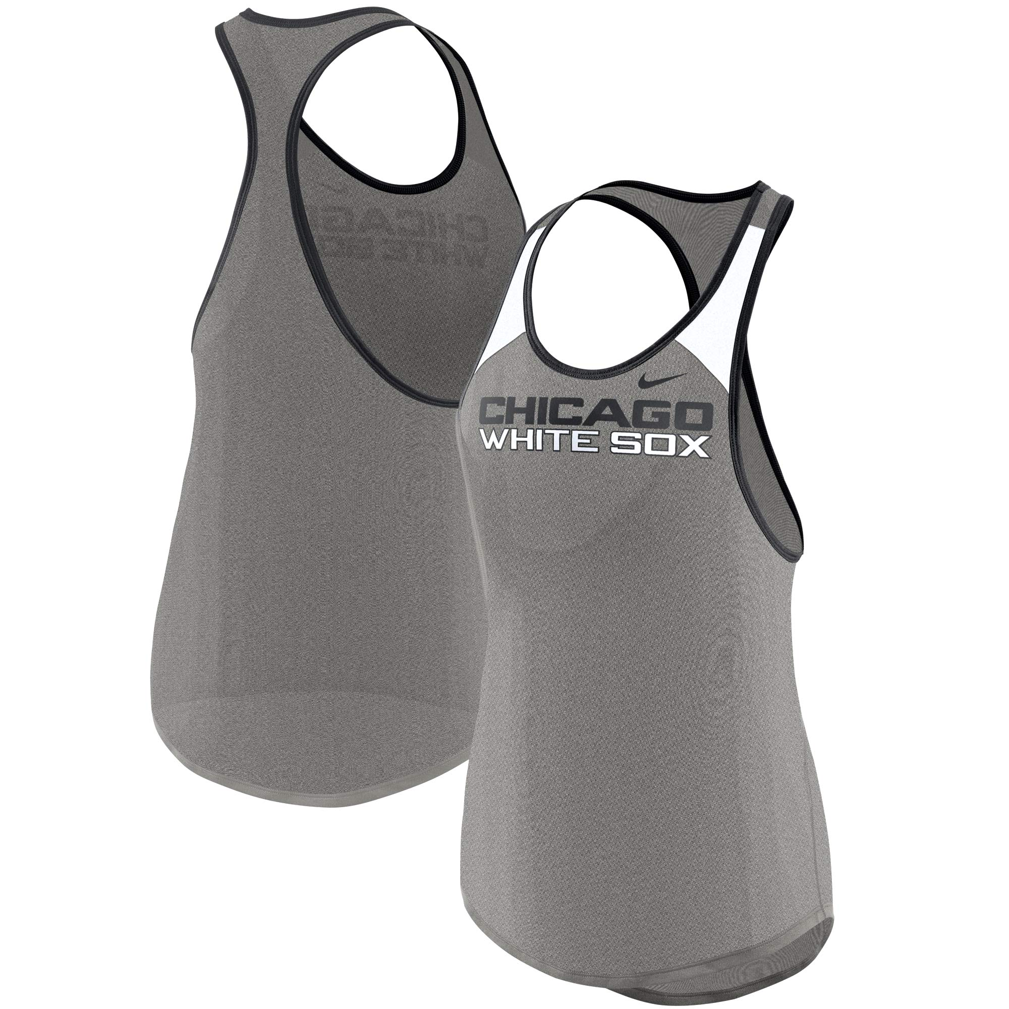 Chicago White Sox Nike Women's Wordmark Legend Tank Top - Heather Gray