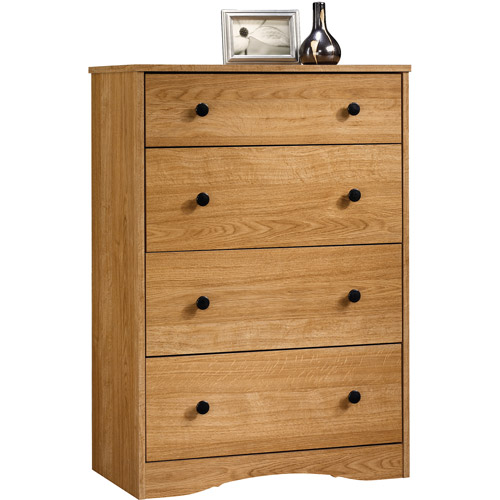 Sauder Beginnings 4-Drawer Dresser, Highland Oak