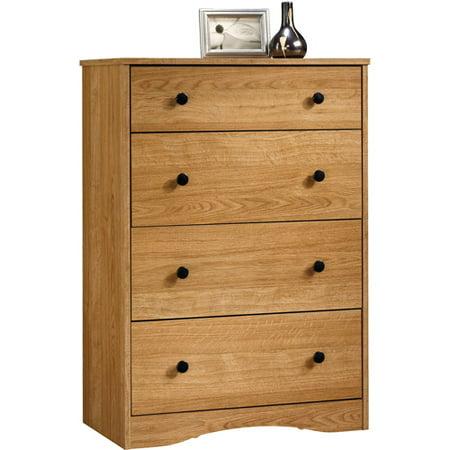 Sauder Beginnings 4 Drawer Dresser Highland Oak Walmart Com