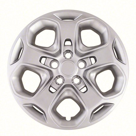 "Silver Ford Fusion 17"" Hubcap / Wheel Cover Set of 4, Fits 2010-2012  17"" Wheels - 5 Spoke (IWC45717S)"