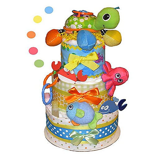 Tumbleweed Babies Sea Life Diaper Cake - Party Supplies