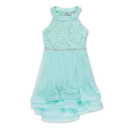 Glitter Lace Fit and Flare Party Dress (Big Girls) for $<!---->