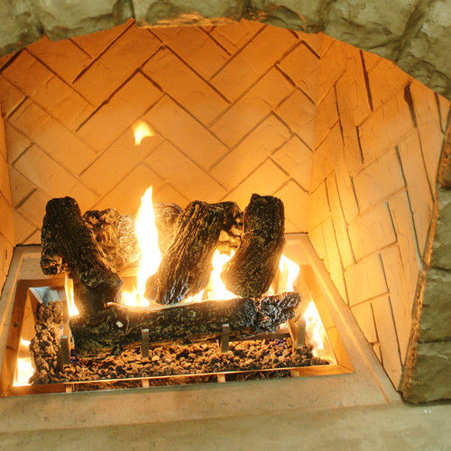 The Outdoor GreatRoom Company Log Set And Grate for Outdoor Fireplace by Outdoor Greatroom Company
