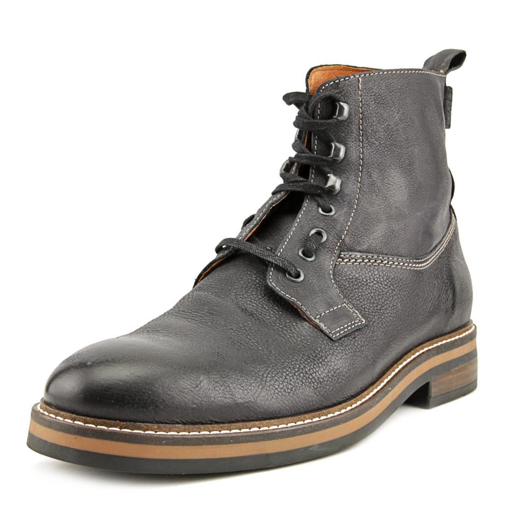 1883 by Wolverine Ramon Plain-Toe Black Men's Boots W00770 by