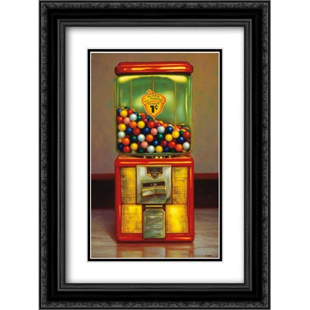 Gumball Machine X 2x Matted 18x24 Black Ornate Framed Art Print by Colletta, TR