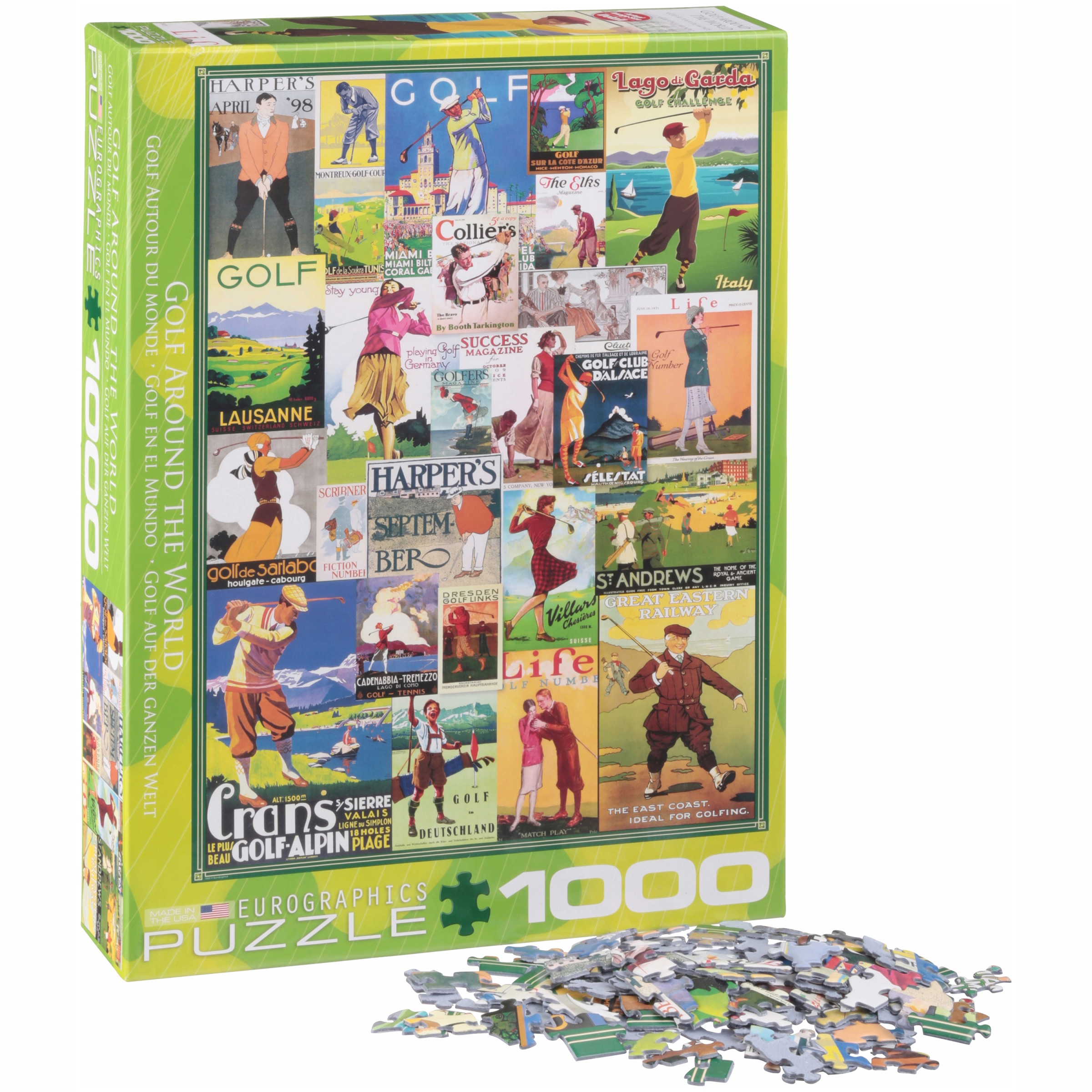 Eurographics Golf Around the World 1000 Piece Puzzle by EuroGraphics