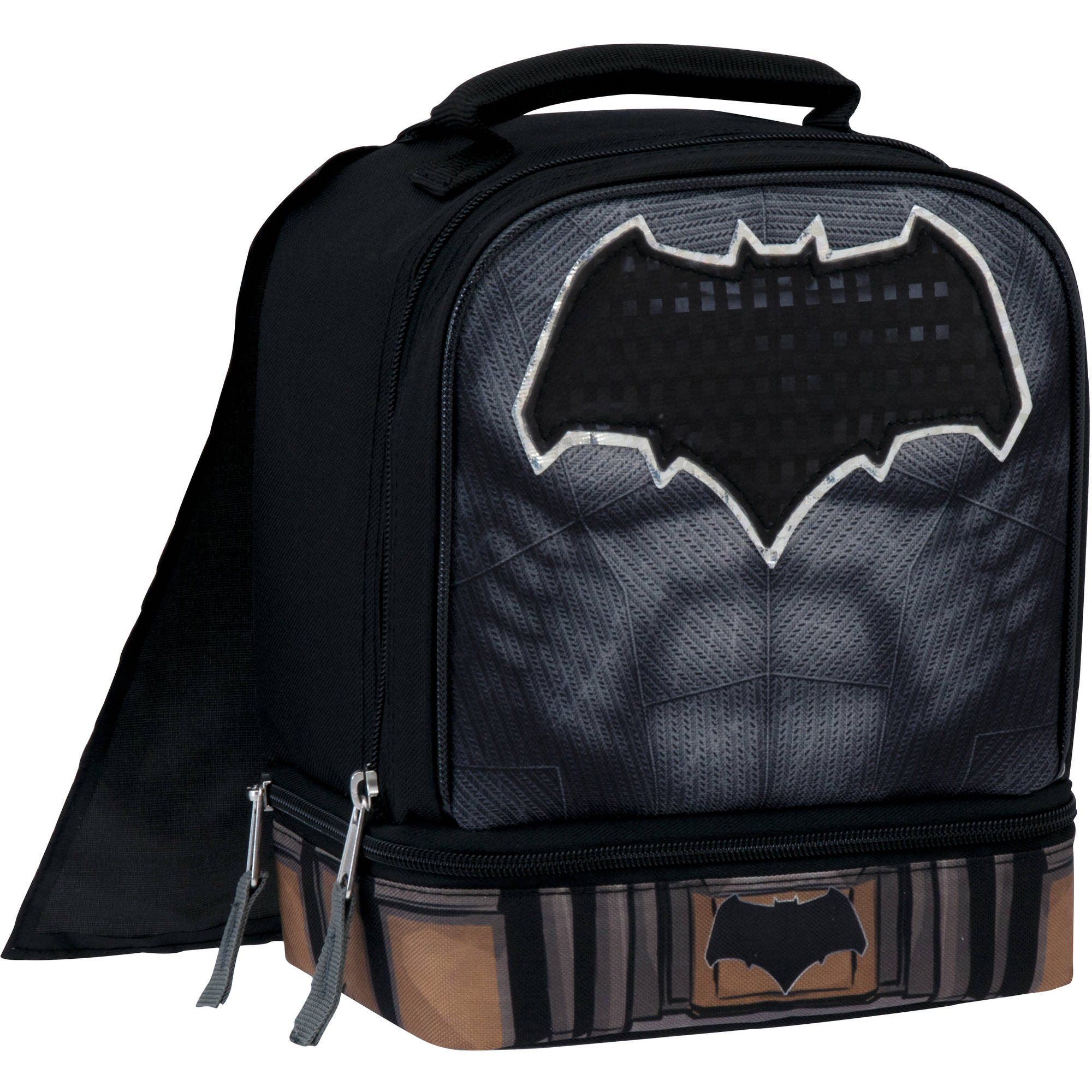 Warner Bro's Batman VS Superman Insulated Dual Compartment Lunch Bag