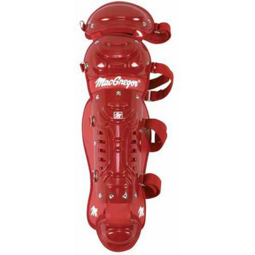 MacGregor B64 Double Knee Youth Leg Guard, Scarlet