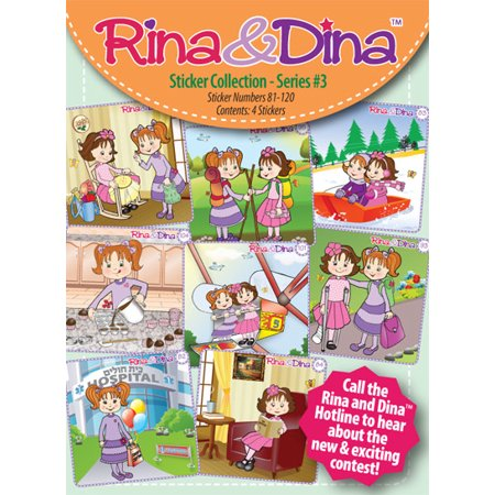 Rina   Dina 4 Pack Sticker Series  3