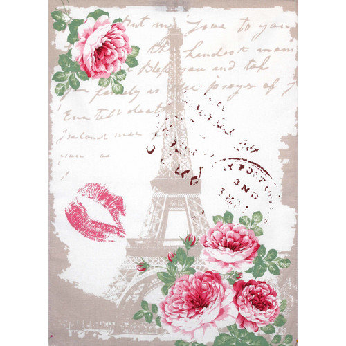 Mierco Eiffel Rose Print Tea Towel (Set of 2)