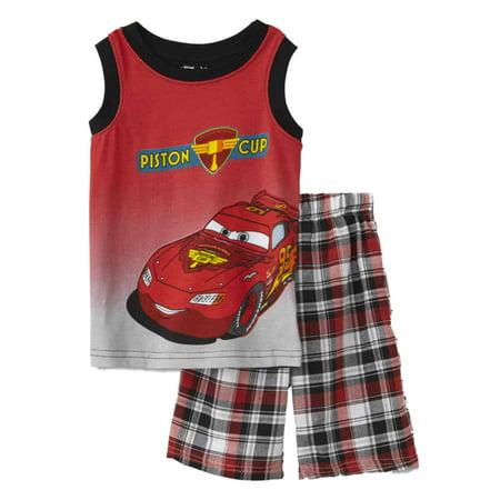 Disney Cars Infant & Toddler Boys Lightning McQueen Tank Top & Shorts Set (Lightning Mcqueen Outfit)