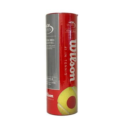 Wilson US OPEN Red Transition Tennis Balls - 3 ball
