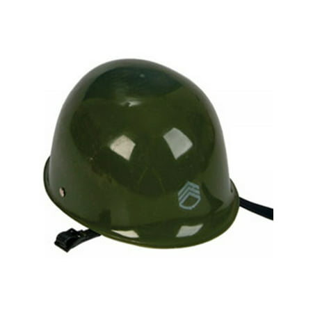 Plastic Army Soldier Military Costume Helmet Party Hat (Woman Soldier Costume)