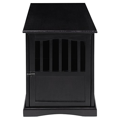 Casual Home Pet Crate End Table - Black