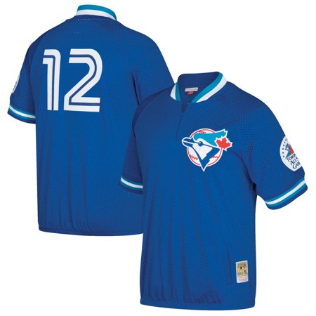 Toronto Blue Jays Jersey (Roberto Alomar Toronto Blue Jays Mitchell & Ness Cooperstown Collection Mesh Batting Practice Quarter-Zip Jersey - Royal )