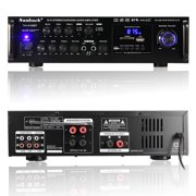 Sunbuck 110V 2000W/1120W 2CH AV Sound Audio P ower Amplifier b luetooth Home Receiver HiFi Stereo RCA Mixer Echo System wit Remote Control For Karaoke MP3/DVD/CD/FM/AM Radio
