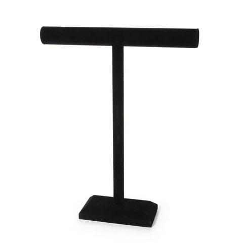 Velvet Jewlry Stand 18X14In. T Bar Black